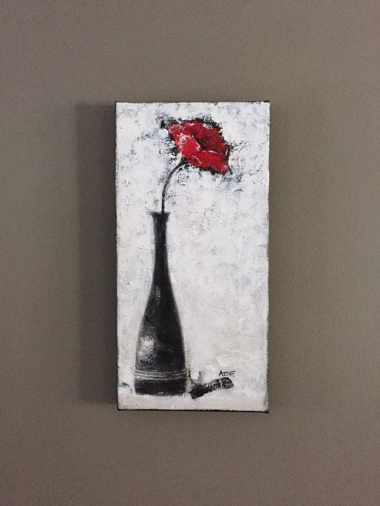 One Red Poppy - Art by Andrea Stajan-Ferkul