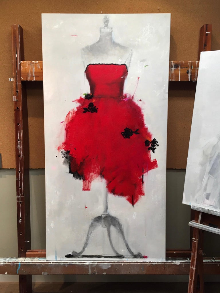 Put On A Red Dress And Make Yourself A Drink (Dress 29) For Sale 11