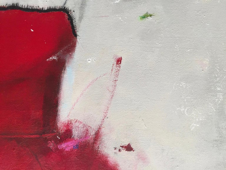 Put On A Red Dress And Make Yourself A Drink (Dress 29) - Black Figurative Painting by Andrea Stajan-Ferkul