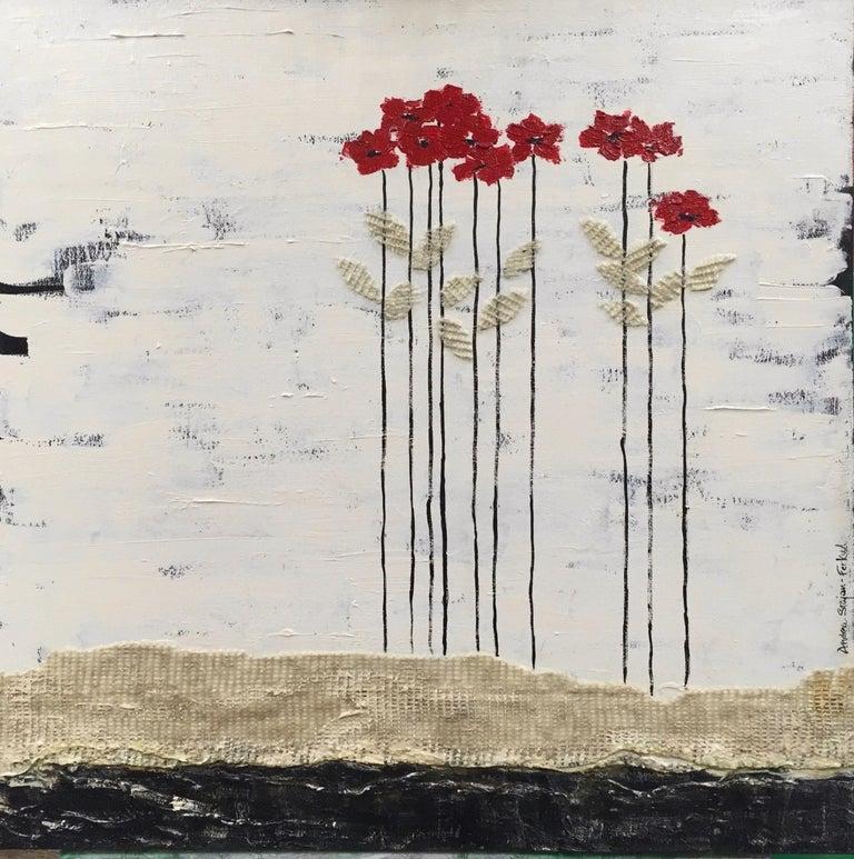 Andrea Stajan-Ferkul Landscape Painting - Red Heads 2