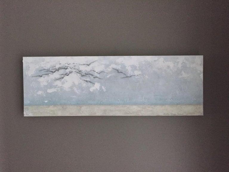 Surfing The Clouds - Minimalist Art by Andrea Stajan-Ferkul