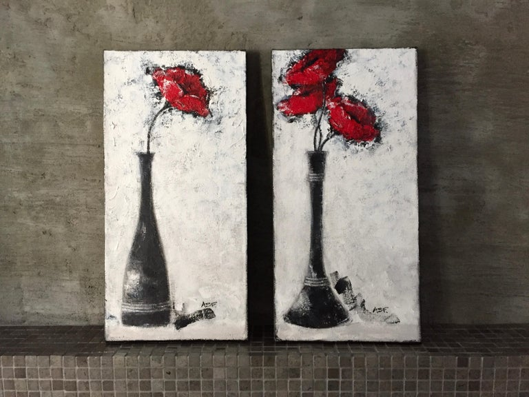 Three Red Poppies For Sale 4
