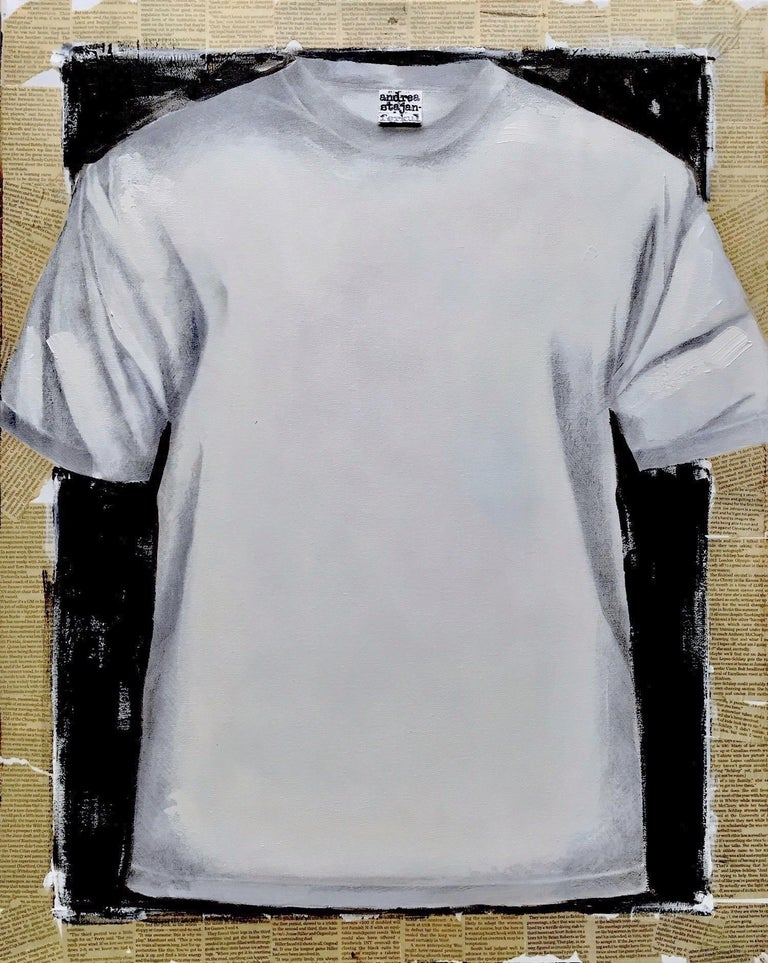 Untitled, T-shirt 2 (series 1 - 9)  - Art by Andrea Stajan-Ferkul
