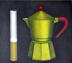 Italian Contemporary Art by Andrea Vandoni - Coffee & Cigarettes II