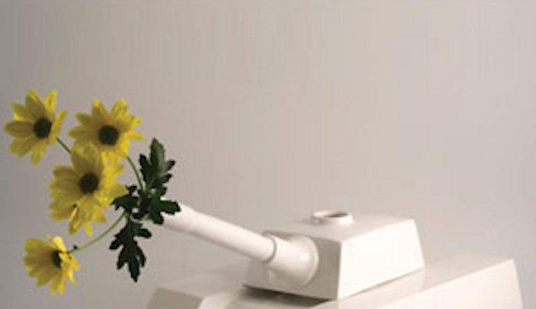 Italian Andrea Visconti Love Tank Ceramic Sculpture Superego Editions, Italy For Sale