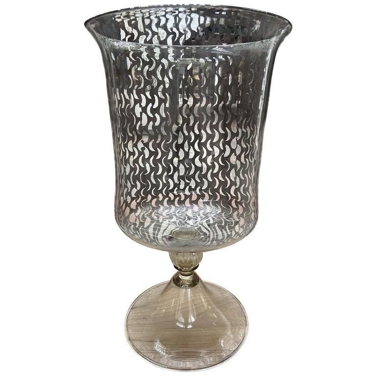 Andrea Zilio, Amphora in Murano Glass  For Sale