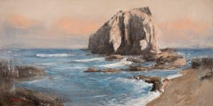 Seascape 2021-03-05, Painting, Oil on Canvas