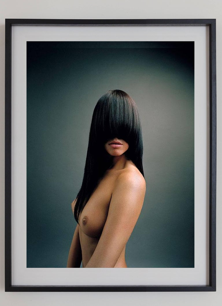 Irina, Vienna - nude portrait of a model in warm green and brown shades For Sale 1