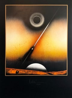 OP Art, Space Art Hand Signed Lithograph Screenprint NASA Artist