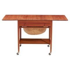 Andreas Tuck for Hans J. Wegner Teak Sewing Table, 1950