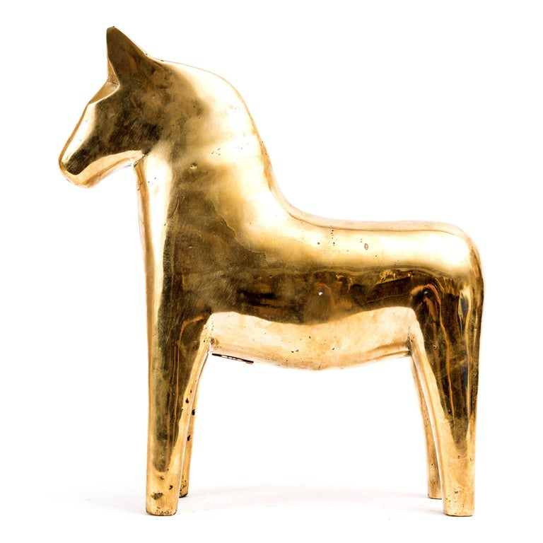 Horse sculpture in solid patinated bronze Two are available  N° 11/99 and N° 18/99 Measures: Length 31cm, height 34.5cm  Indicated price is per unit.