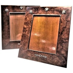 Andrei Ananov, a Pair of Wood and 925° Silver Photograph Frames, Russia