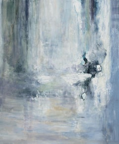Rare Sighting - Large Abstract Landscape Painting in Blue