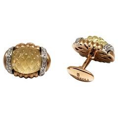 Andreoli 18k Brushed Rose Gold, Diamond and Quartz