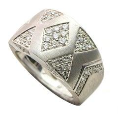 Andreoli 2 Carat 18 Karat White Gold Diamond Band Ring
