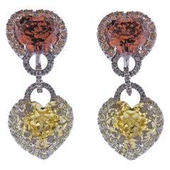 Andreoli Gold Sapphire Gemstone Diamond Earrings