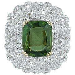 Andreoli Peridot and Diamond Cocktail Ring