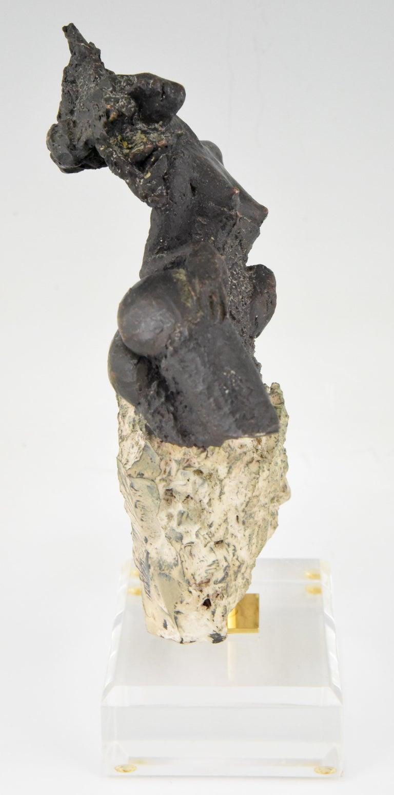 Andres Peralta Sculpture Nude on a Rock 1980 Spain For Sale 1
