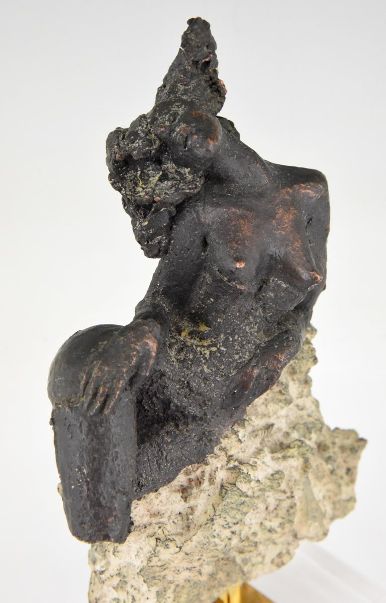 Andres Peralta Sculpture Nude on a Rock 1980 Spain For Sale 2