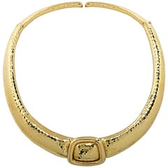 Andrew Clunn Yellow Gold Choker Necklace