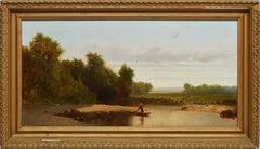 Hudson River School Landscape by Andrew Fisher Bunner  (1841 - 1897)