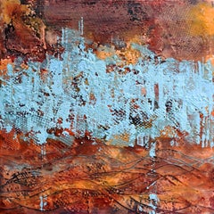 Borderland I, Contemporary Encaustic Abstract Painting