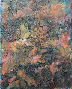 Borderland VI, Contemporary Encaustic Abstract Painting