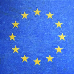 E.U. Flag (After Jasper Johns) 2019.