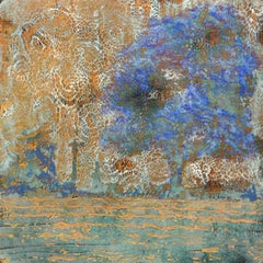 Behind The Sky:  Contemporary Encaustic Wax Abstract Painting