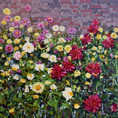 """Llanerchaeron"", Contemporary Floral Oil Painting"