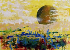 New Tregaron: Contemporary Futuristic Landscape Oil Painting