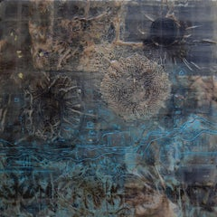 """""""Not That End Of Time"""",    Contemporary Encaustic Wax Painting"""