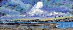 Ynys Aberteifi Island: Contemporary British Coastal Landscape Oil Painting