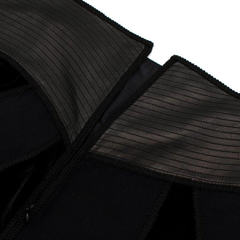 Andrew GN Black Contrast Panelled Scallop Hem Mini Skirt FR40 For Sale 1