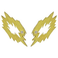 Andrew Grima 18 Karat Gold and Diamond Ear Clips