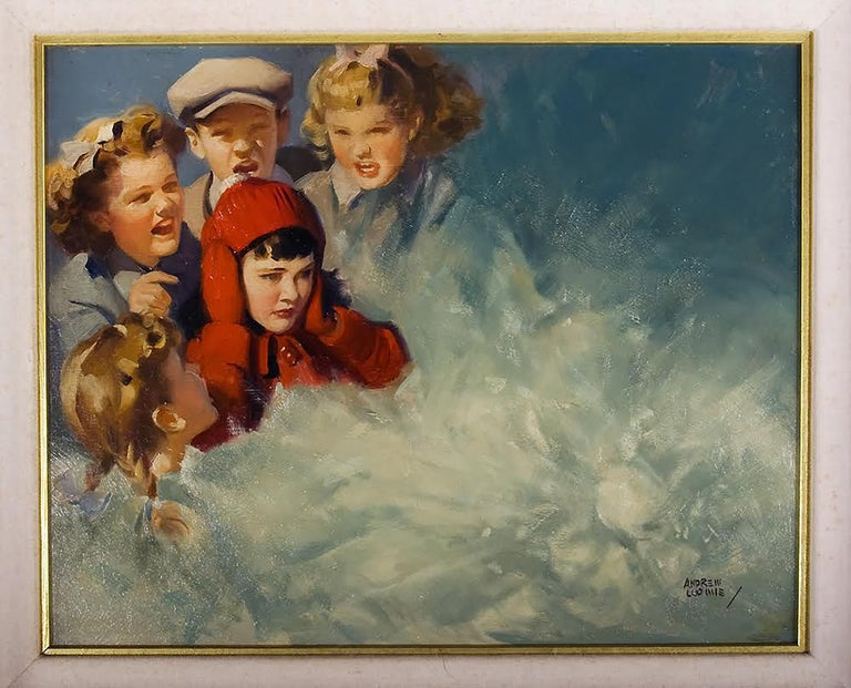 Untitled  - Painting by Andrew Loomis