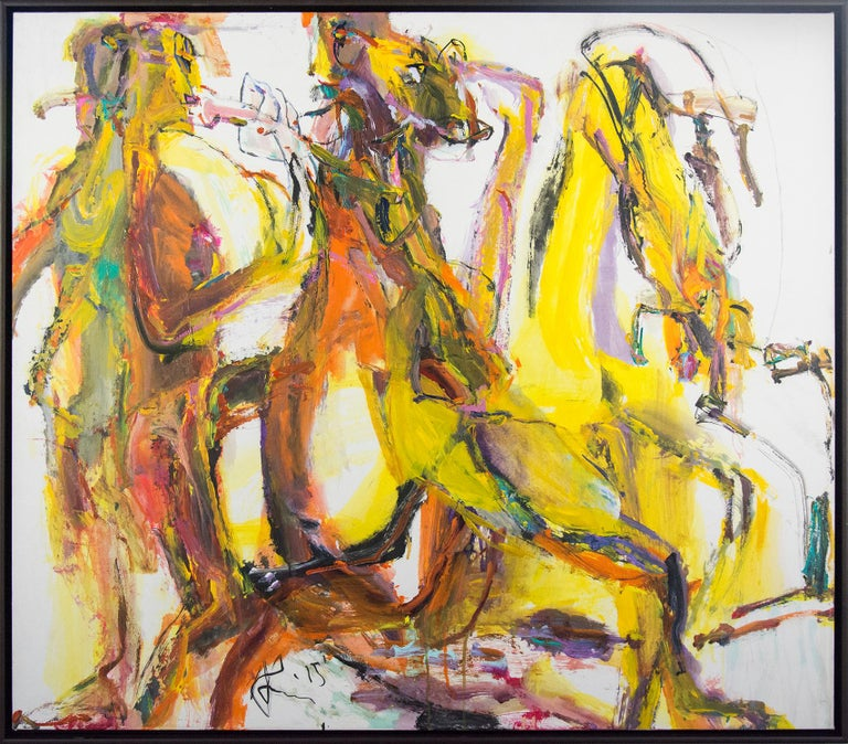 Andrew Lui Animal Painting - Cantabile in Yellow