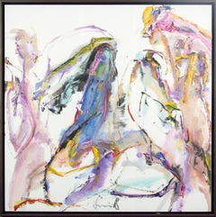 Tang Fung II - colorful abstracted horse and rider