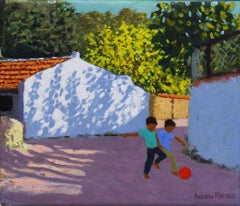 Football in Bodrum, Turkey - 21st Century, Contemporary, Oil