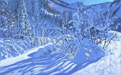 Fresh Snow, Les Arcs, France - 21st Century, Contemporary, Oil, Snow scene