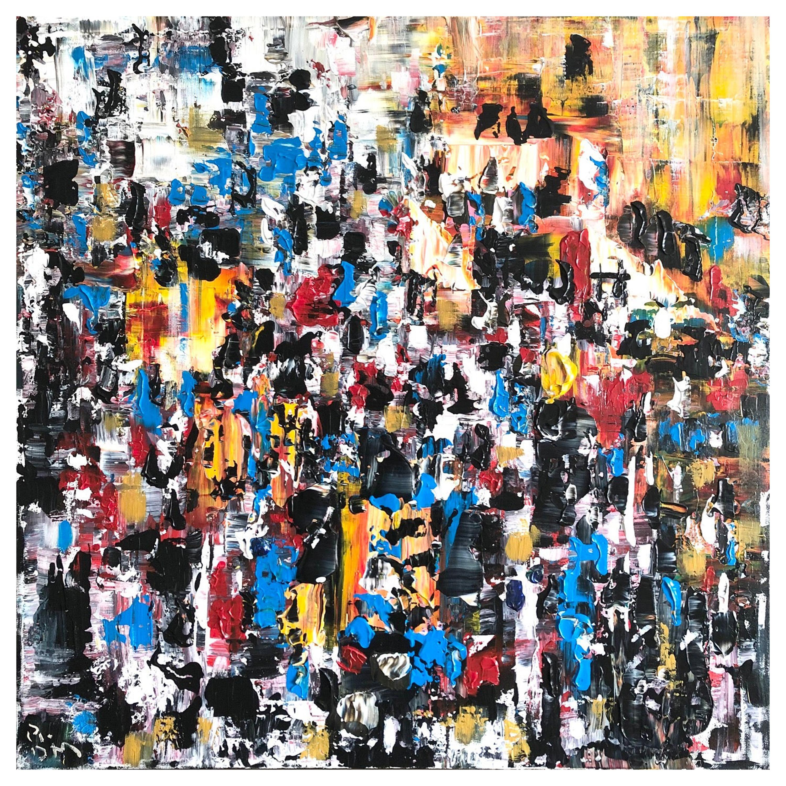 Andrew Plum Marrakech Souk Contemporary Abstract Painting, 2008