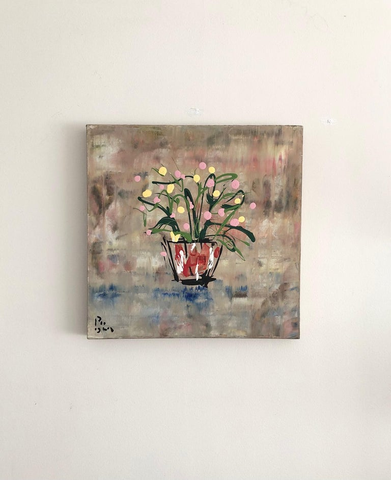 Hand-Painted Andrew Plum Printemps Paris Contemporary Abstract Painting, 2009 For Sale