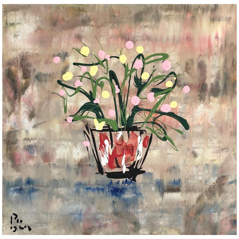 Andrew Plum Printemps Paris Contemporary Abstract Painting, 2009 For Sale