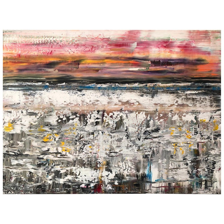 Andrew Plum Sea Sprites Contemporary Abstract Painting, 2018 For Sale