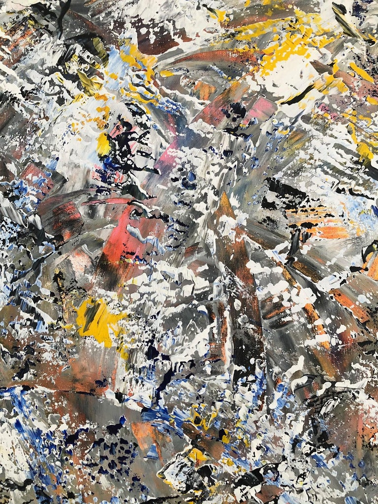 Canadian Andrew Plum Winter Vortex Contemporary Abstract Painting, 2020 For Sale