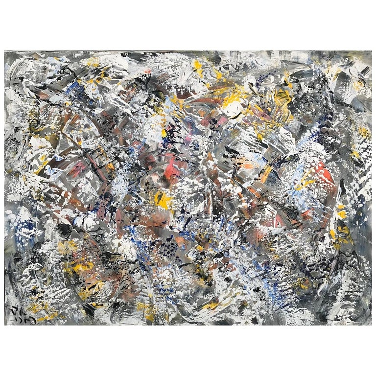 Andrew Plum Winter Vortex Contemporary Abstract Painting, 2020 For Sale