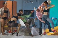 Motion Capture Studio 9, Scene Depicting Female Dancers, Male Computer Techs