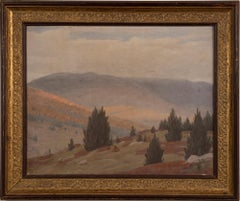 Antique American Impressionist Southern School Kentucky Hills Landscape Painting