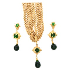 Andrew Spingarn Sculptural Necklace and Earrings Set Signed