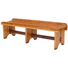 Andrew Stauss Studio Craft Bench in Oak and Walnut